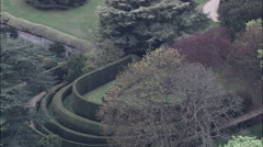 Close View Of Sunken Garden At Ascott House Stock Footage