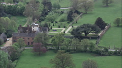 Close View Of Canons Ashby With Gardens In The Foreground Stock Footage