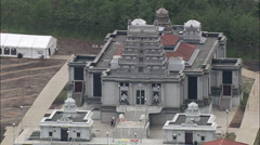 Hindu Temple Near Wolverhampton Stock Footage