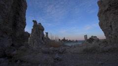Mono Lake Sunrise dolly shot Stock Footage
