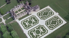 Directly Down Looking At Kirby Hall Stock Footage