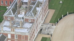 Wimpole House aerial Stock Footage