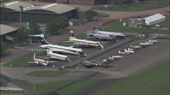 Duxford Air Museum Stock Footage