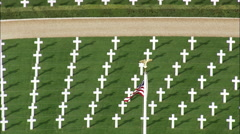 American War Cemetery Near Cambridge Stock Footage