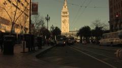 San Francisco Embarcadero Cable Car Stock Footage