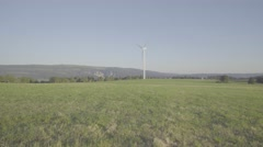 Windpark with cameramotion 4K UHD sLog3 24p Stock Footage