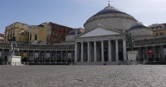 Basilica Reale San Francesco di Paola in Napoli, Italy Stock Footage