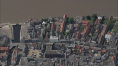 Directly Down And Close Over King's Lynn Stock Footage