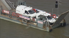 Reedham Ferry On River Yare Stock Footage