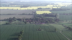 Wide Of Ingatestone Hall With Fields In The Background Stock Footage