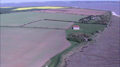 St Peter's - Early Saxon Church Near Bradwell On Sea Stock Footage