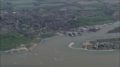 Brightlingsea aerial Stock Footage