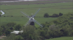 Another Windmill On River Yare Stock Footage