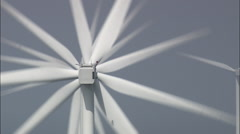Cu Off Shore Wind Farm Through Clouds Stock Footage