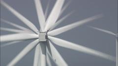 Cu Off Shore Wind Farm Through Clouds Stock Footage