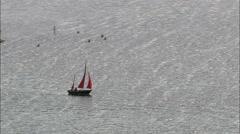 Sailing On Barton Broad Stock Footage