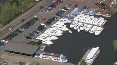 Wroxham aerial Stock Footage
