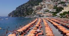 Positano, Amalfi Coast, Italy Stock Footage