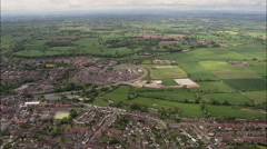 Over Nantwich And Towards Dorfold Hall Stock Footage