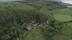 Gwrych Castle Abandoned Stock Footage