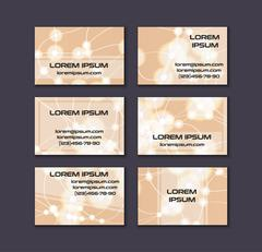 Business card collection. Abstract shining glow decorative elements with tran Stock Illustration