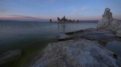 Mono Lake Sunset Stock Footage