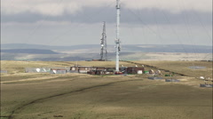 Winter Hill Transmitter Tower Stock Footage