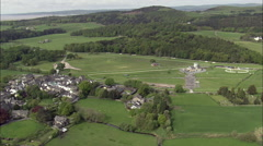 Cartmel Priory Race-Course Stock Footage