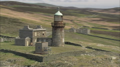 Lighthouses On End Of Iom South Stock Footage