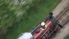 Steam Train Sequence, Tight Over Head Stock Footage