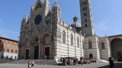 Siena, Italy - Exterior of Siena Cathedral Stock Footage