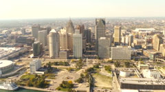 Detroit city from above Arkistovideo