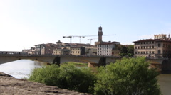 Florence, Italy shot by the Arno River Stock Footage