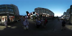 360Vr Video Man Enters the Undergroung Station Kiev City Day People Are Walking Stock Footage