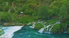 Una river waterfall Stock Footage