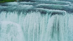 Magnificent Waterfall Strbacki Buk Stock Footage