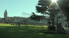 San Francisco   Ghirardelli Square Stock Footage