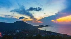 Sunrise over tropical island Koh Samui, Thailand Stock Footage