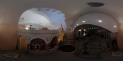 360Vr Video Interior of Church Opening of Temple Restoration of Archangel - stock footage