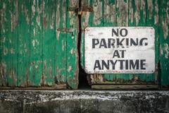 No parking at anytime Stock Photos