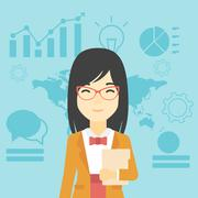 Successful business woman vector illustration Stock Illustration