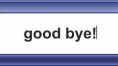Good bye! Stock Footage
