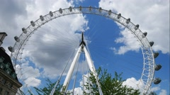 Timelapse London Eye is the tallest Ferris wheel in Europe Stock Footage