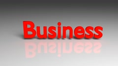 Business, 3d animation. Business word animation for use in presentations Stock Footage