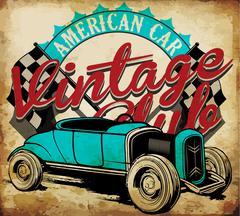 Classic Garage - Vector EPS10 Tee Graphic Design Stock Illustration