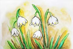 Lily of the valley Stock Illustration