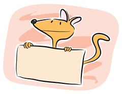 Dog Vector  With Text Box Stock Illustration