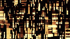 Broadcast Golden Twinkling Rectangles Hi-Tech Blocks Loop Background - stock footage