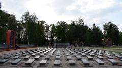 Military Memorial Cemetery - stock footage