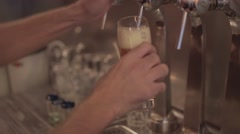 Pouring Perfect Draft Beer Stock Footage